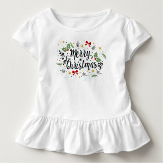 Playful Ditsy Merry Christmas Design Jersey Shirt