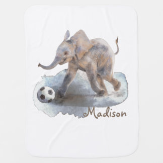 Playful Elephant Baby Blanket