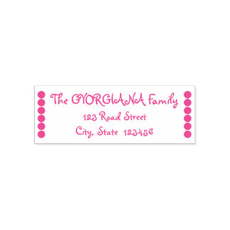 Playful Family Name + Address Rubber Stamp