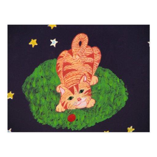 Playful Ginger Kitten Post Cards