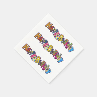 Playful Happy Birthday Disposable Napkin