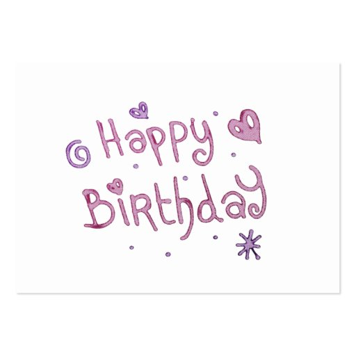 Playful Happy Birthday Text Business Cards