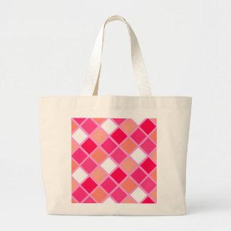 Playful Harlequin Lipstick Color Tiles Canvas Bag