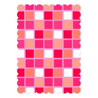Playful Harlequin Lipstick Color Tiles Card