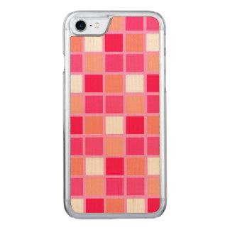 Playful Harlequin Lipstick Color Tiles Carved iPhone 7 Case