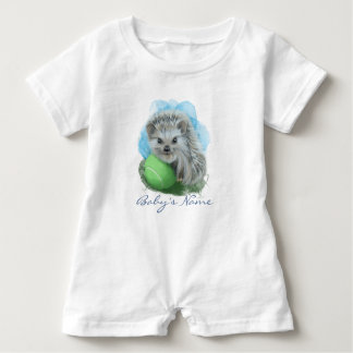 Playful Hedgehog Custom Baby Romper Baby Bodysuit
