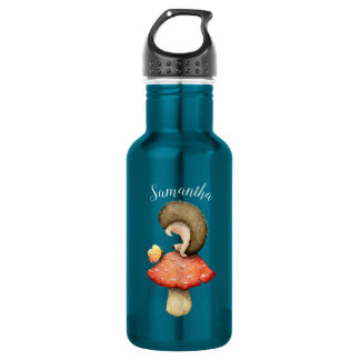 Playful Hedgehog with Your Name 532 Ml Water Bottle