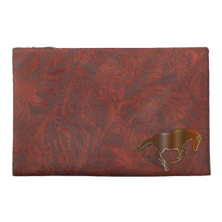Playful Horse Logo Leather-look Equine Art Travel Accessories Bag