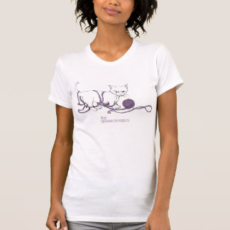 Playful Kitten Ladies Scoop Tee