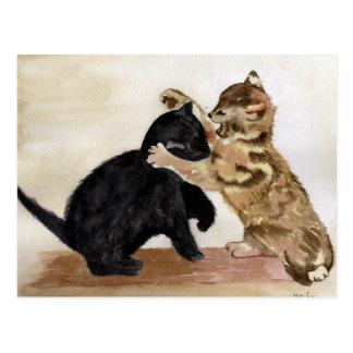 Playful Kittens Postcard