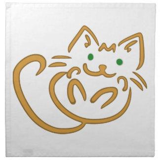Playful Kitty Napkin