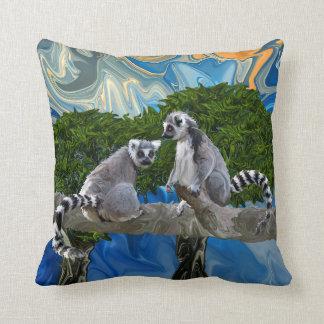 Playful Lemur-ick Cushion