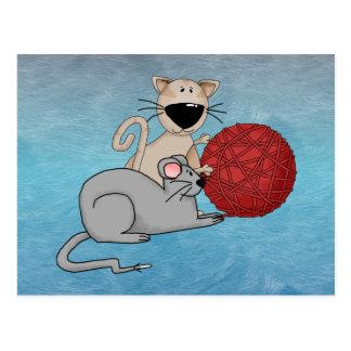 Playful Mouse Postcard