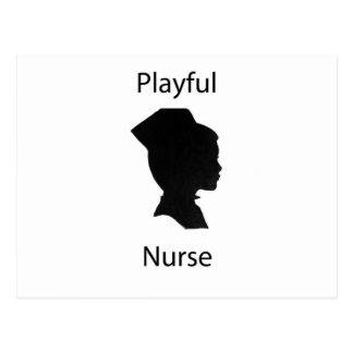 playful nurse postcards