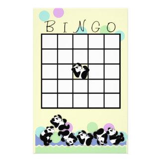 Playful Panda Bingo Stationery Paper