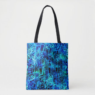 Playful Party Blues Tote Bag