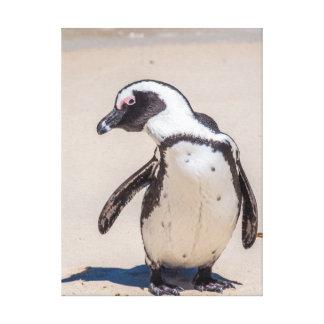 Playful Penguin Canvas Art