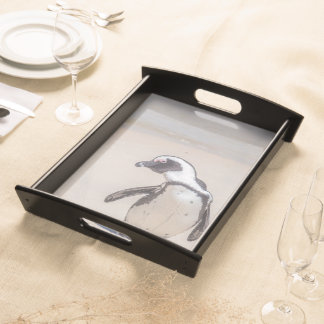 Playful Penguin Serving Tray