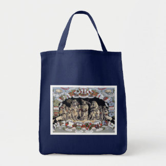 Playful Pigs Grocery Tote Bag