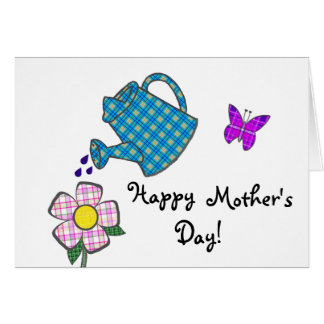 Playful Plaid Flower for Mother Card