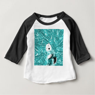Playful Polar Bear In Turquoise Water Design Baby T-Shirt