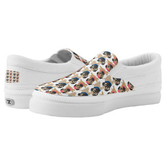 Playful Pugs 2 Printed Shoes