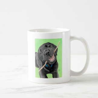 Playful Pup Black Lab Puppy Coffee Mug