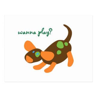 Playful Pup Postcard