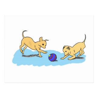 Playful Puppies Postcard