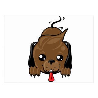 Playful puppy dog postcard