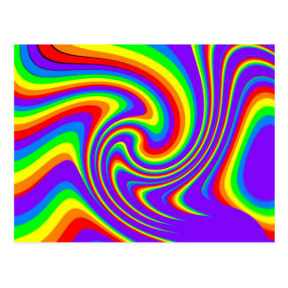 Playful Rainbow Post Card