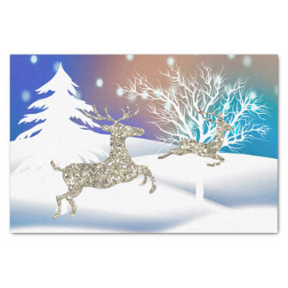 Playful Reindeer Holiday tissue paper