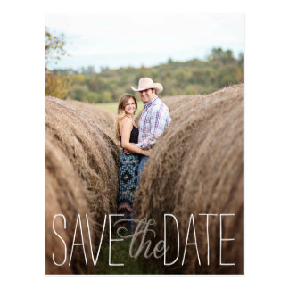 Playful Save The Date Postcard