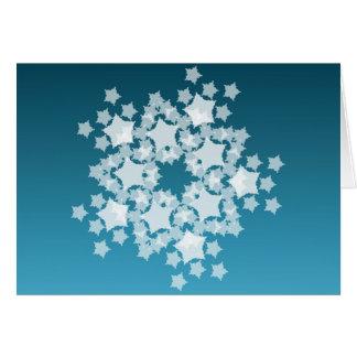 Playful snowflake - Christmas Greeting Card