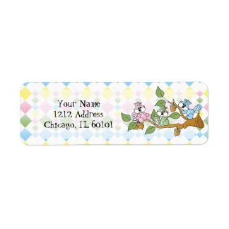 Playful Squirrel Baby Shower Theme Return Address Label
