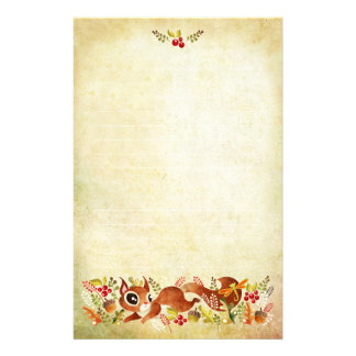 Playful Squirrel Stationery