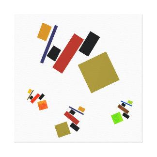 playful Suprematism Canvas Print