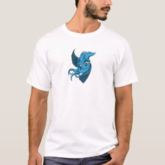 Playful Two Toned Blue Bird T-Shirt