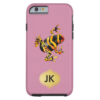 Playfully Adorable Black & Orange Watercolor Frog Tough iPhone 6 Case
