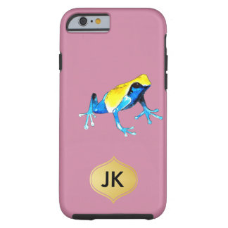 Playfully Adorable Blue & Yellow Watercolor Frog Tough iPhone 6 Case