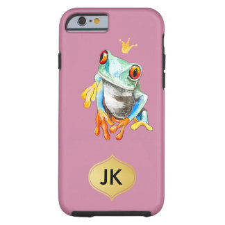 Playfully Adorable Green & Yellow Watercolor Frog Tough iPhone 6 Case
