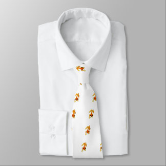 Playfully Adorable Orange & Yellow Watercolor Frog Tie