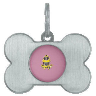 Playfully Adorable Yellow & Black Watercolor Frog Pet ID Tag
