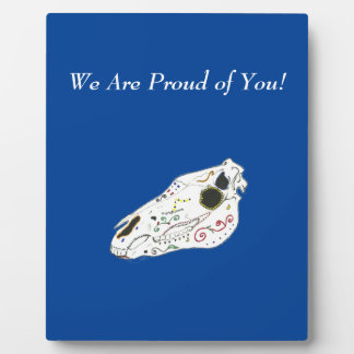 Playfully Beautiful La Muerte Horse Skull Plaque