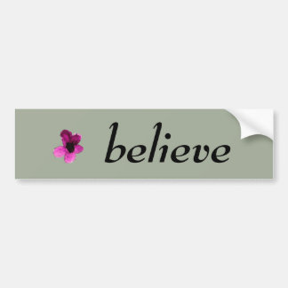 Playfully Beautiful Pink Floral Watercolor Bumper Sticker