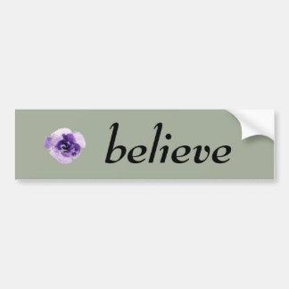 Playfully Beautiful Purple Rose Floral Watercolor. Bumper Sticker