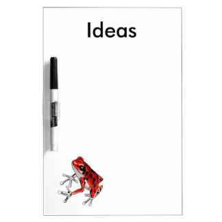 Playfully Beautiful Red Frog Dry-Erase Whiteboard
