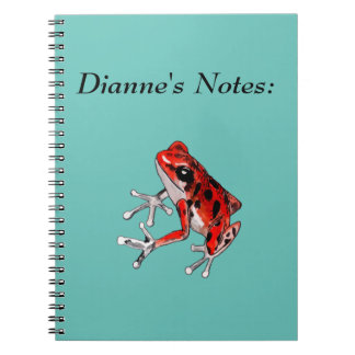 Playfully Beautiful Red Frog Notebooks
