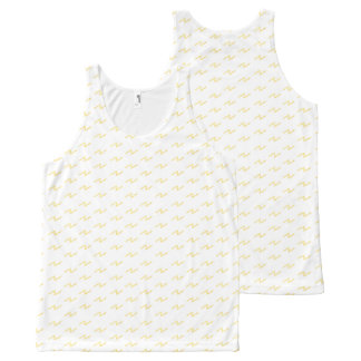 Playfully Cool Geometric Watercolor Yellow All-Over Print Tank Top