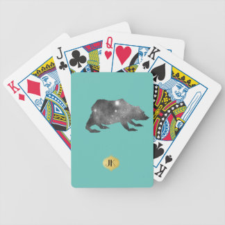 PLAYFULLY COOL UNIVERSE BEAR BICYCLE PLAYING CARDS